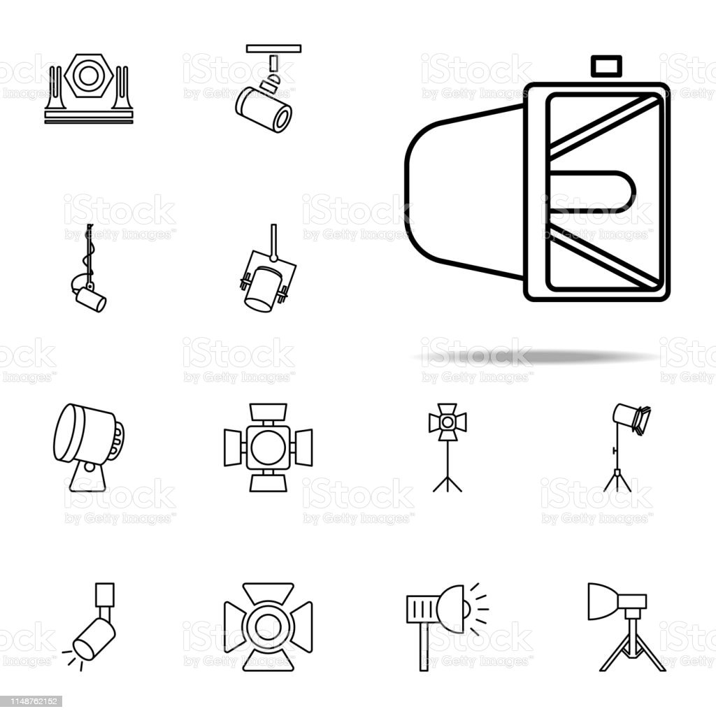 Searchlight Icon Spotlight Icons Universal Set For Web And