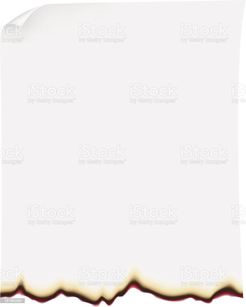 searing paper vector illustration vector art illustration