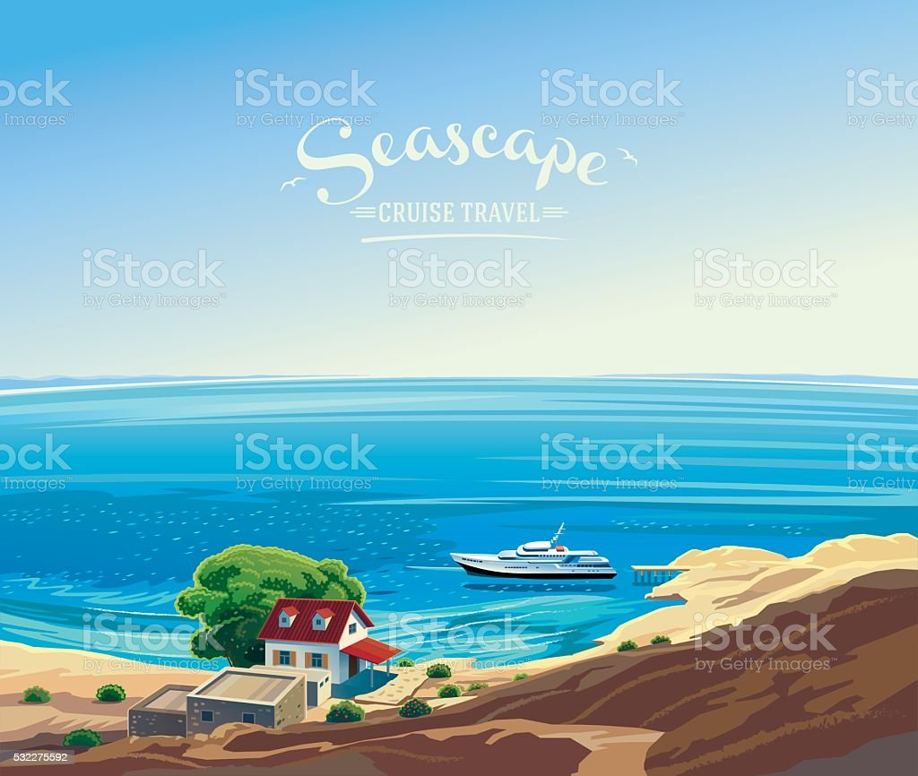 Seascape. vector art illustration