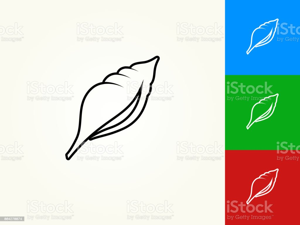 Seashell Black Stroke Linear Icon royalty-free seashell black stroke linear icon stock vector art & more images of animal