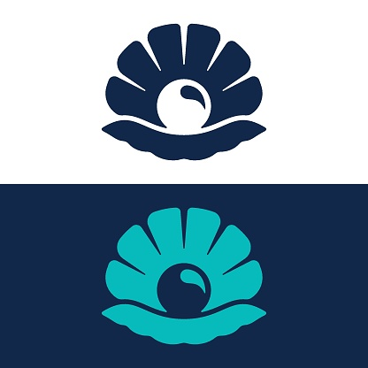 Seashell line and glyph logo