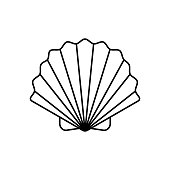 Seashell line icon, animal and underwater, shell sign vector graphics, a linear pattern on a white background, eps 10.