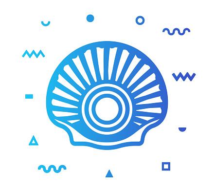 Seashell Line Style Icon Design