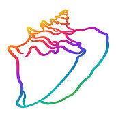 istock Seashell Rainbow 1285897159