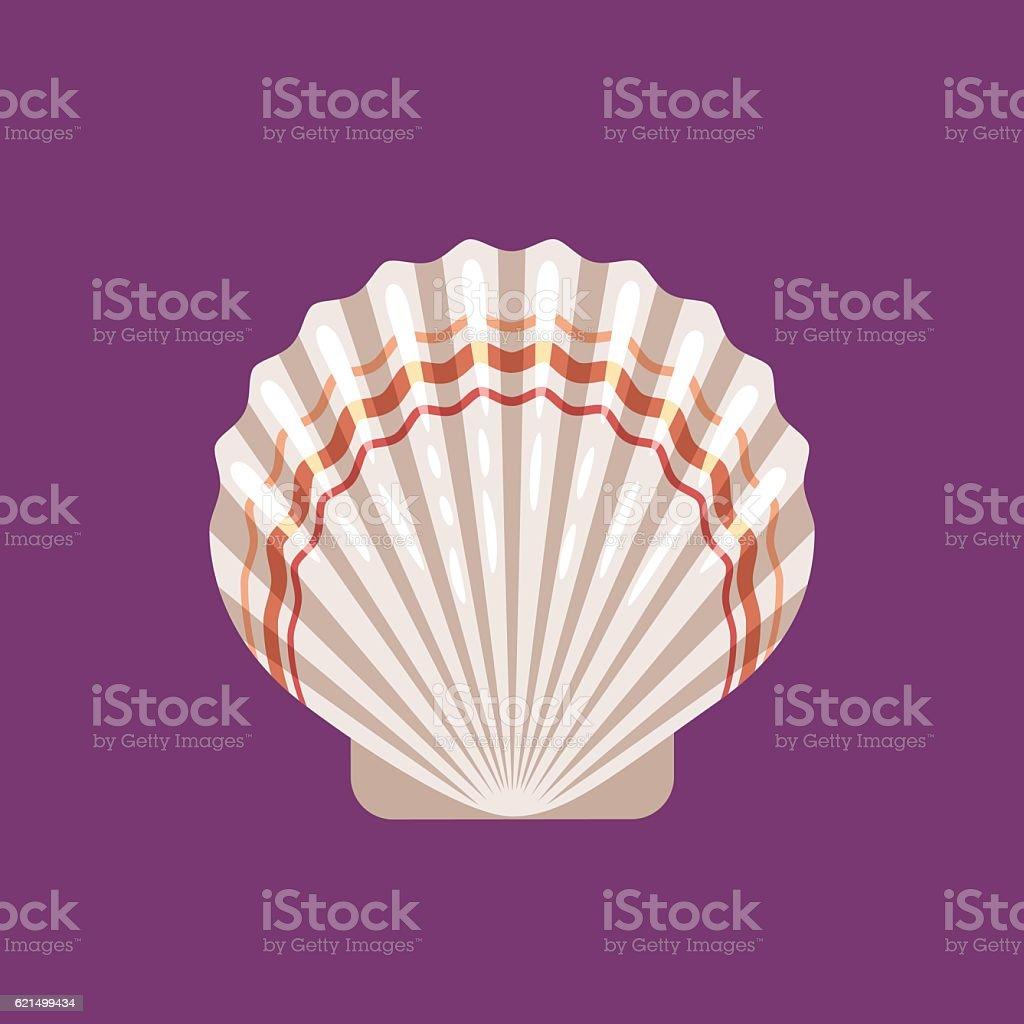 Seashell scallop flat icon seashell scallop flat icon – cliparts vectoriels et plus d'images de affaires libre de droits
