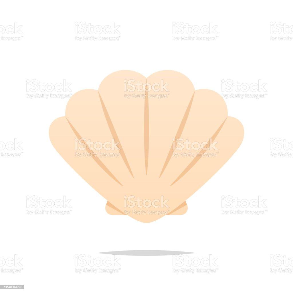分離された貝殻ベクトル - アイコンのロイヤリティフリーベクトルアート