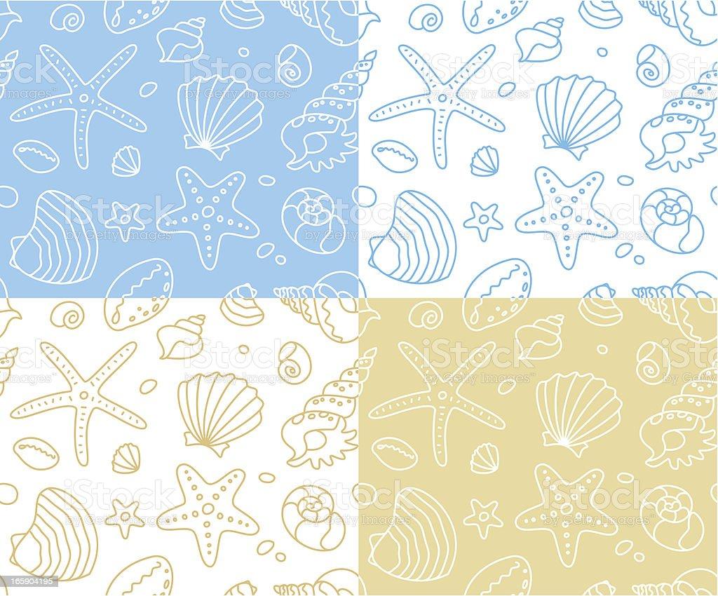 Seashells pattern royalty-free stock vector art