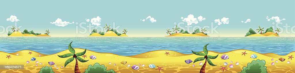 Seashore and ocean. royalty-free seashore and ocean stock vector art & more images of backgrounds