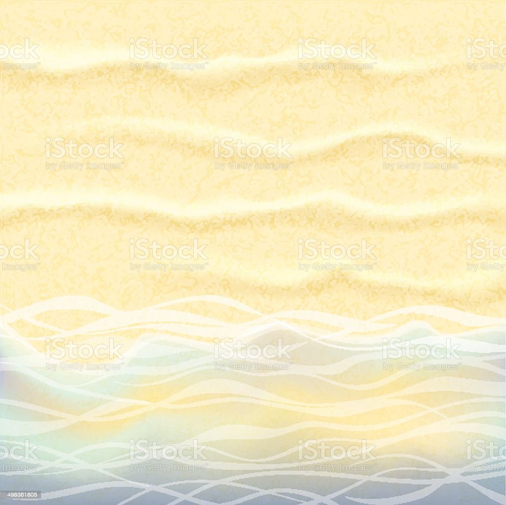 Seaside Background. vector art illustration