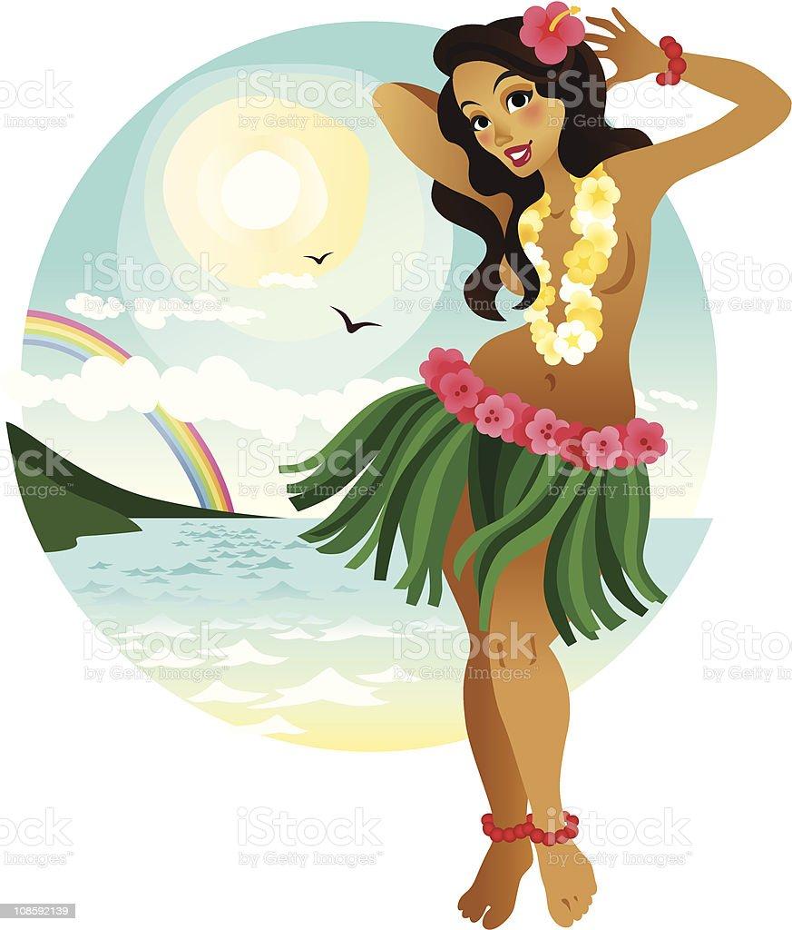 royalty free hula girl clip art vector images illustrations istock rh istockphoto com hawaiian hula girl clipart hula girl clipart free
