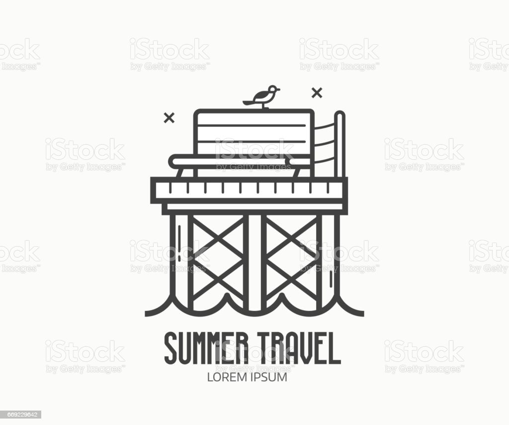 Seaside Summer Travel Logotype