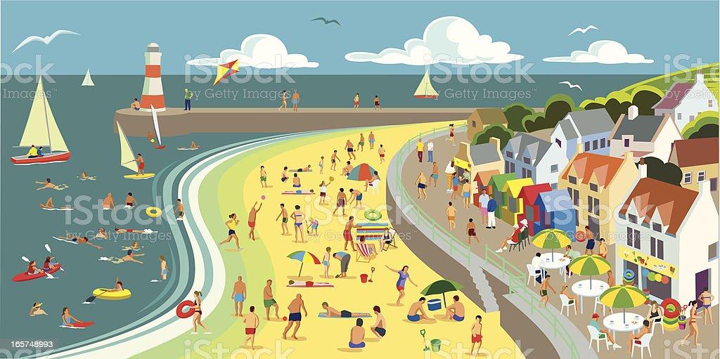 Seaside vector art illustration