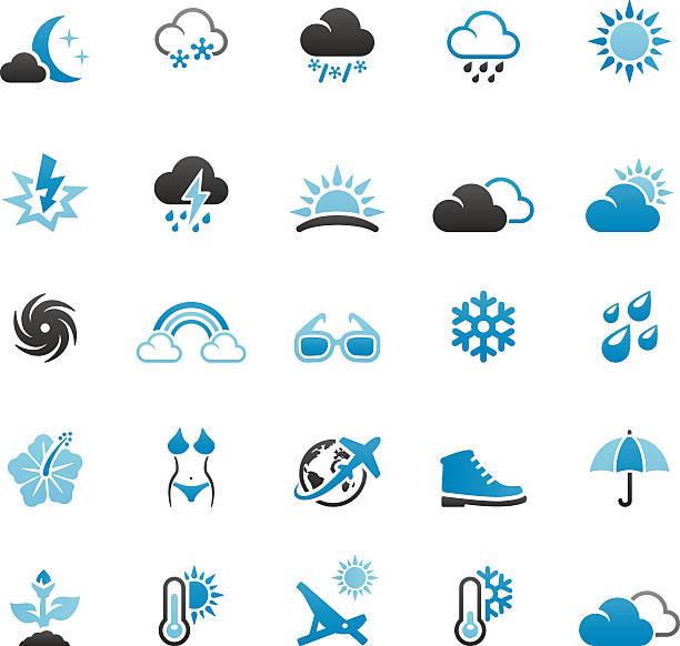 stockillustraties, clipart, cartoons en iconen met season and weather - bloemen storm