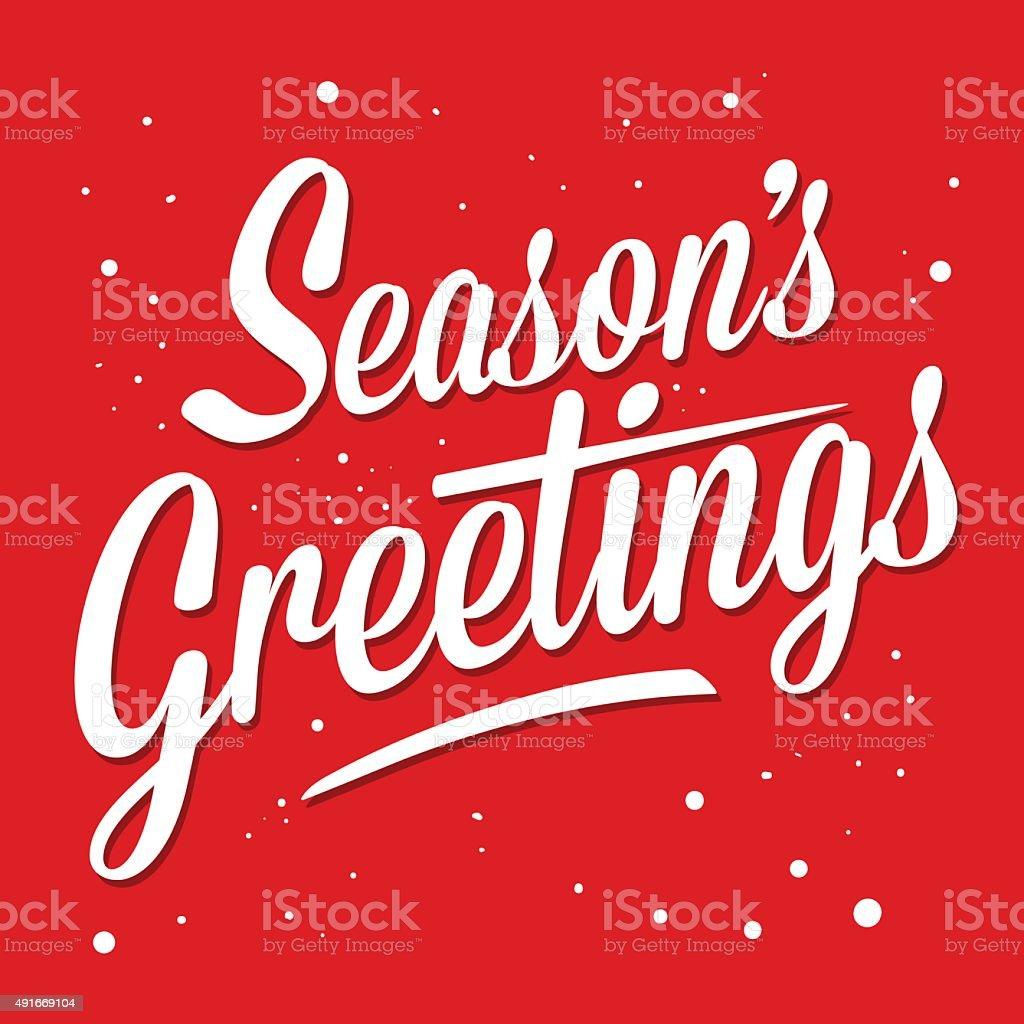 Season Greetings vector art illustration