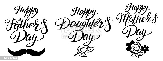 istock Season Holidays Father's Day, Daughter's Day, Mother's Day 1327530692