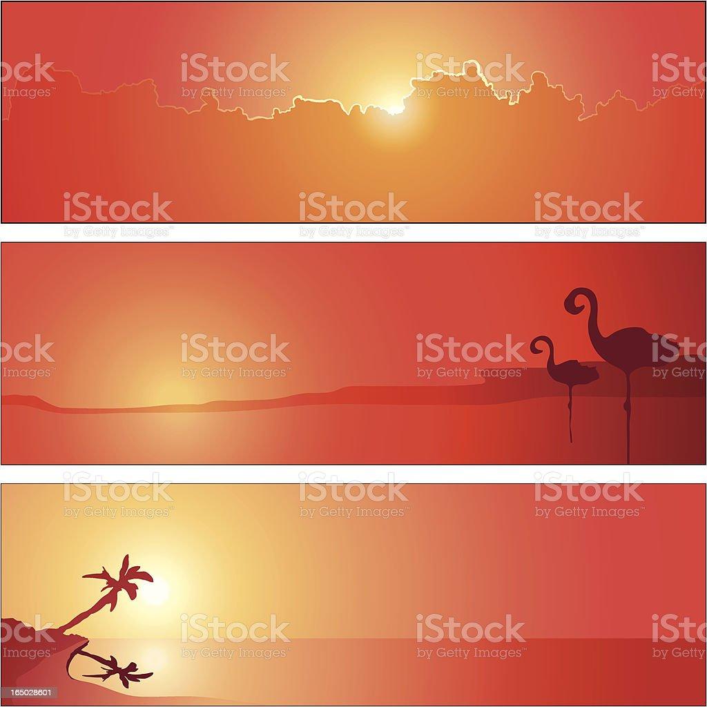 Season Panel Hot Summer royalty-free stock vector art