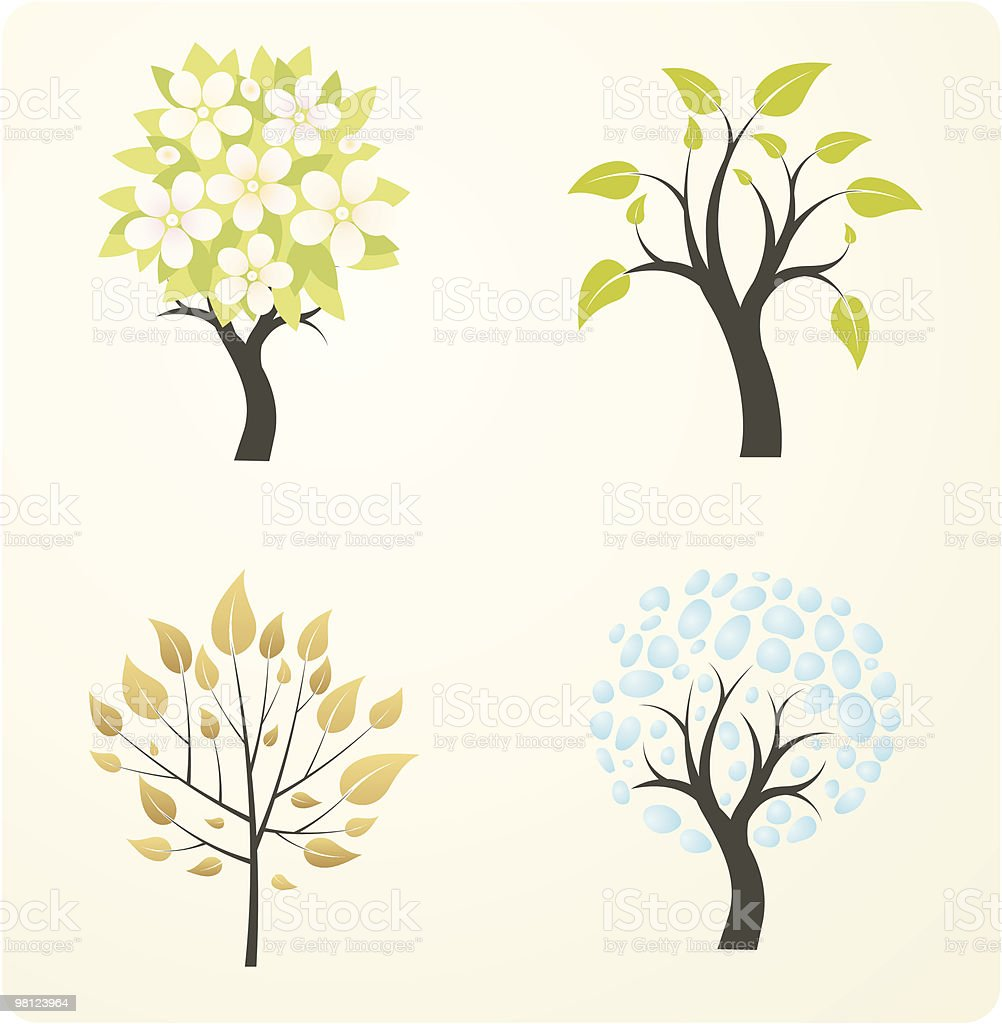 season tree royalty-free season tree stock vector art & more images of autumn