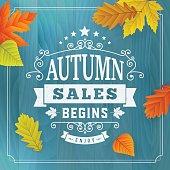 Seasonal autumn business sales background