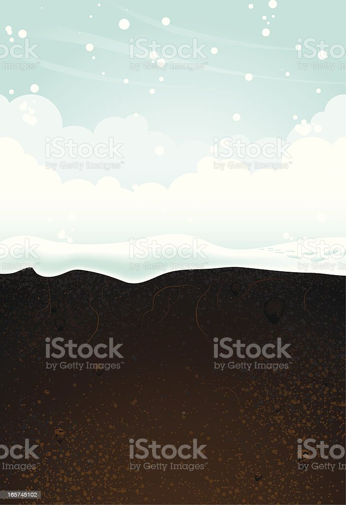 A seasonal background of winter royalty-free stock vector art