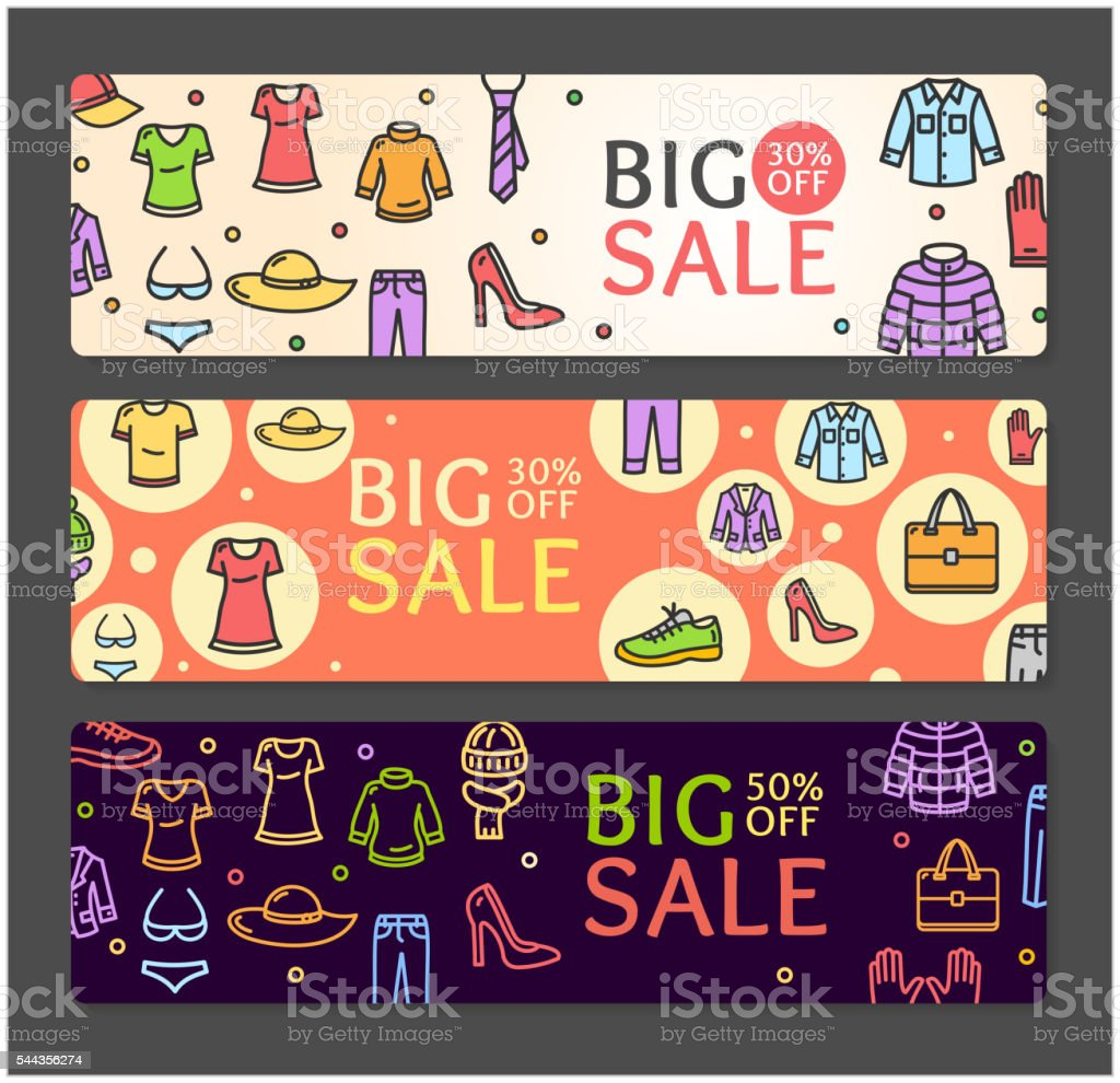 banner vector sale clothing