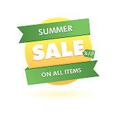 Seasonal sales sticker. icon, pin. vector format.