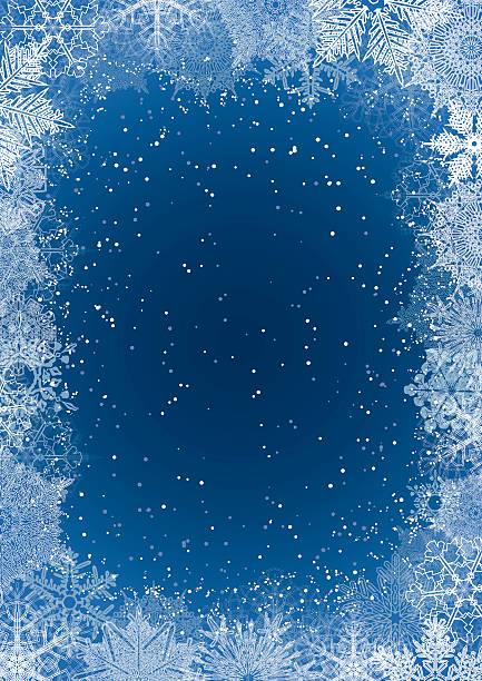 ilustrações, clipart, desenhos animados e ícones de floco de neve fundo da estação - geada
