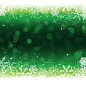 Vector of green color Christmas background with snowflake pattern. EPS Ai 10 file format.