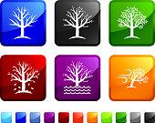 Seasonal Tree sticker set