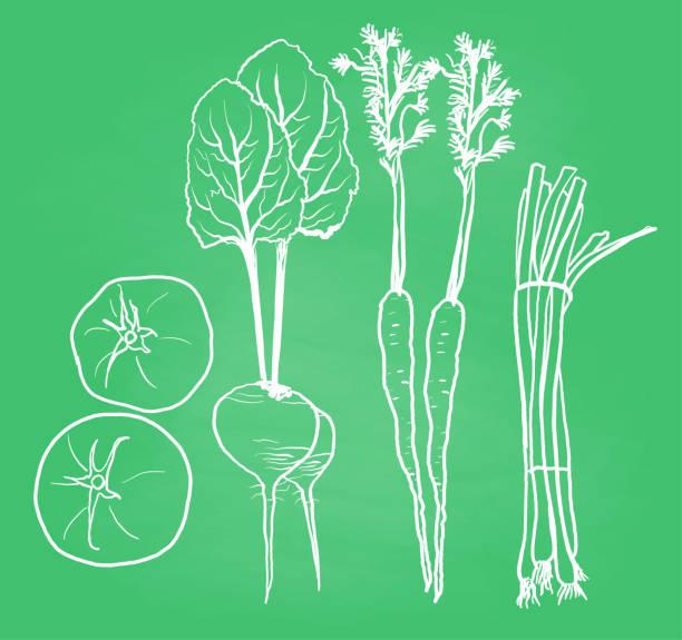 Saisonale Veggies Tafel – Vektorgrafik