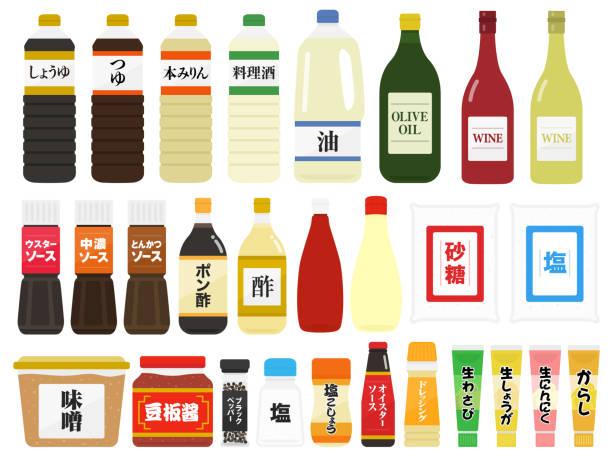 調味料イラストセット - わさび点のイラスト素材/クリップアート素材/マンガ素材/アイコン素材