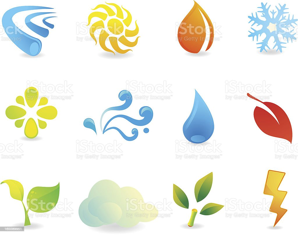 Seasons and Nature Icons royalty-free stock vector art