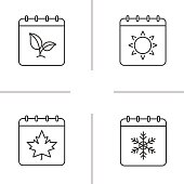 Seasons calendars icons