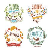 Seasons Floral Badges