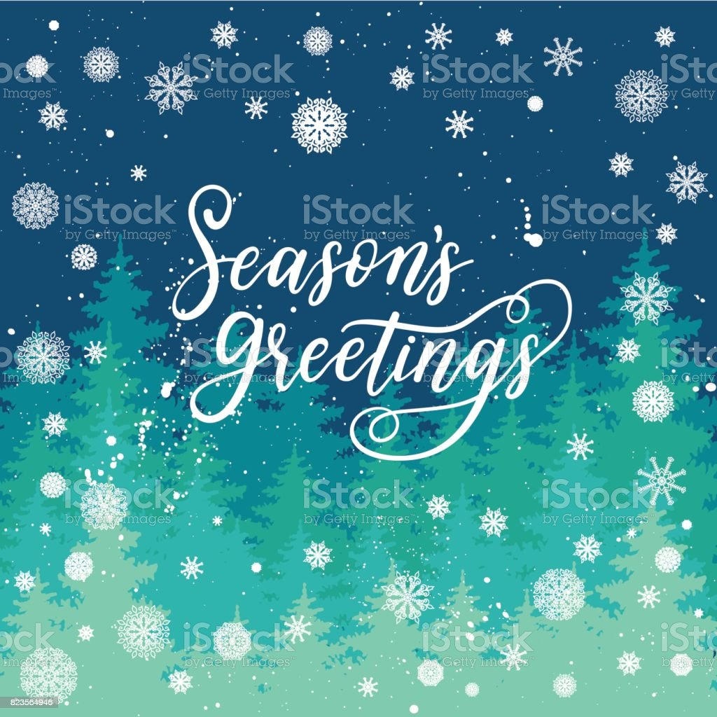 Seasons greetings card for new year 2017 vector winter holiday seasons greetings card for new year 2017 vector winter holiday background with hand lettering calligraphy kristyandbryce Image collections