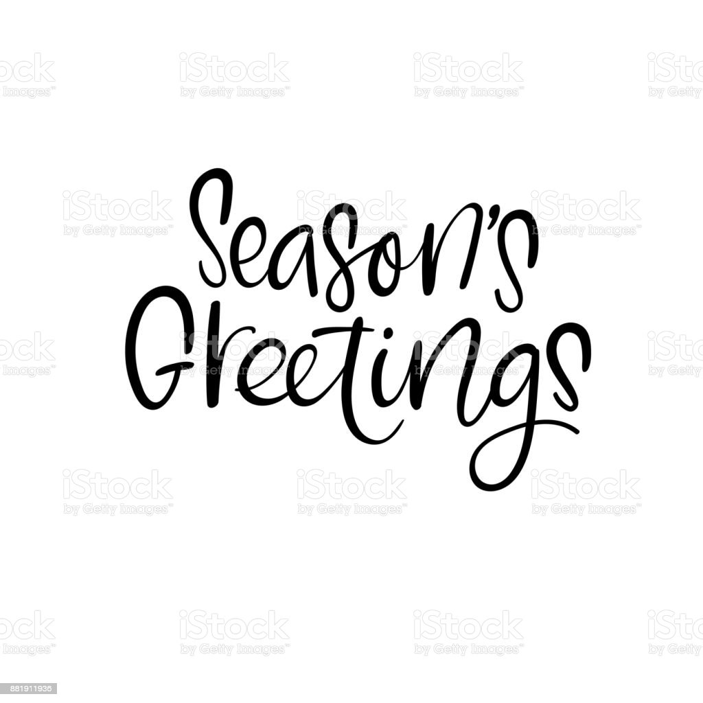 Seasons Greetings Christmas And Happy New Year Cards Modern