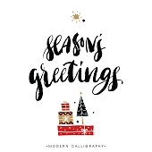 Season's greetings. Christmas calligraphy.