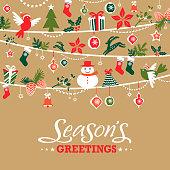 Season's greetings graphic elements