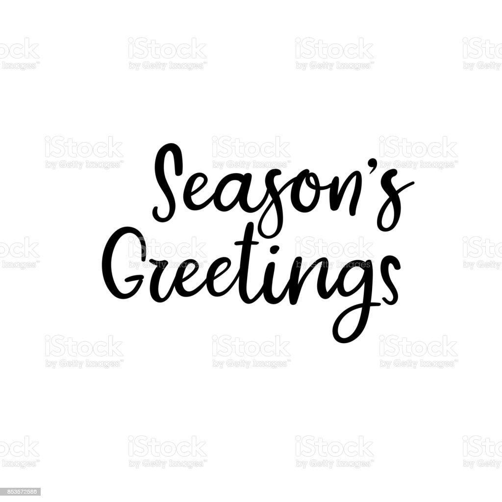 Seasons greetings handwritten inscription hand lettering holiday seasons greetings handwritten inscription hand lettering holiday phrase calligraphy vector illustration royalty kristyandbryce Gallery