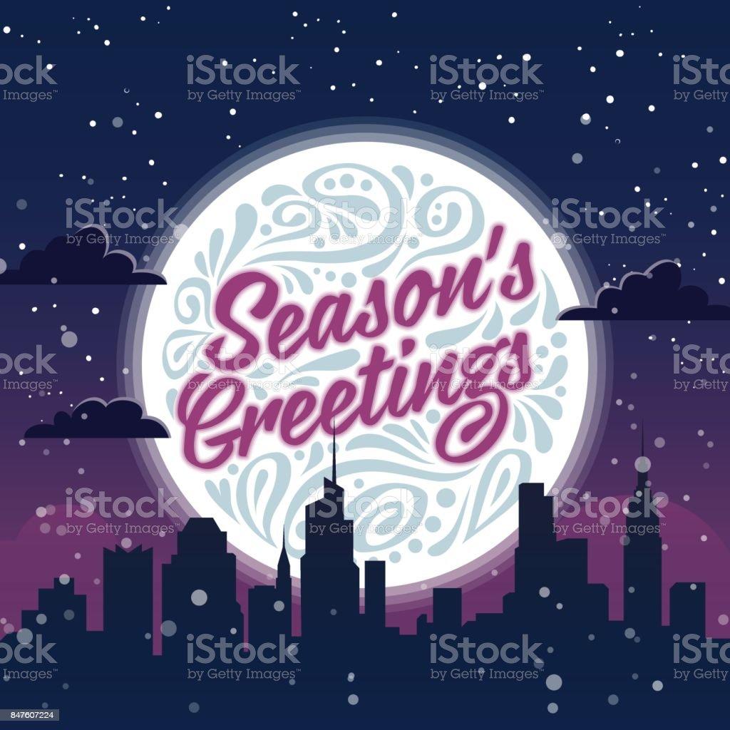 Seasons Greetings Holiday Greeting Card Stock Vector Art More