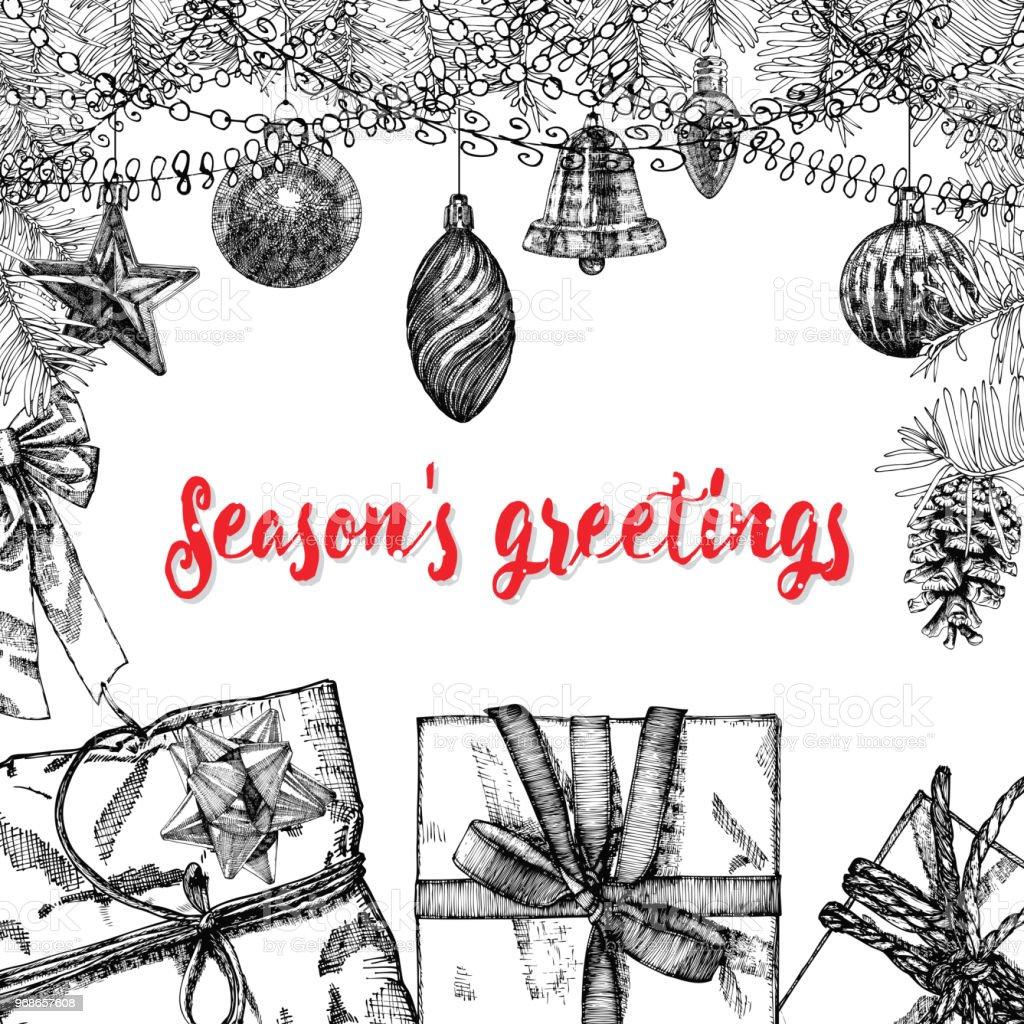 Seasons greetings text design handdrawn typography for banner seasons greetings text design handdrawn typography for banner greeting card gifts m4hsunfo