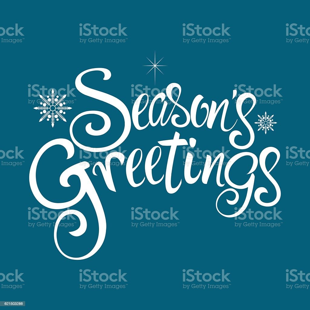 Seasons Greetings Text Lizenzfreies seasons greetings text stock vektor art und mehr bilder von grüßen