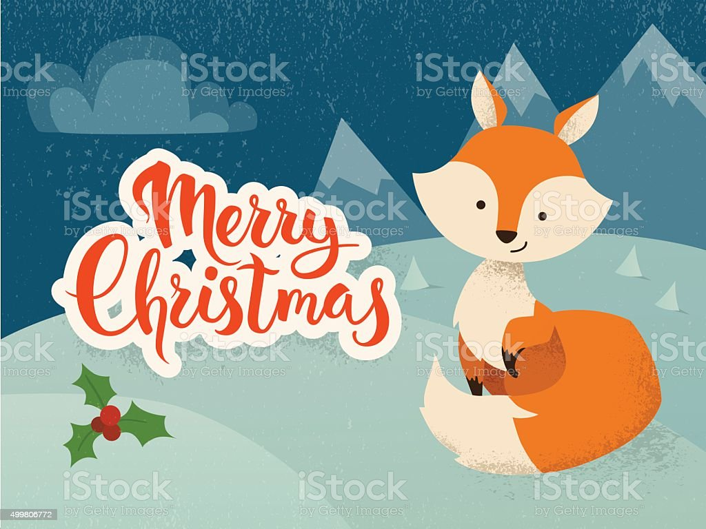 Seasons greetings vector card with funny christmas character stock seasons greetings vector card with funny christmas character royalty free seasons greetings vector card m4hsunfo