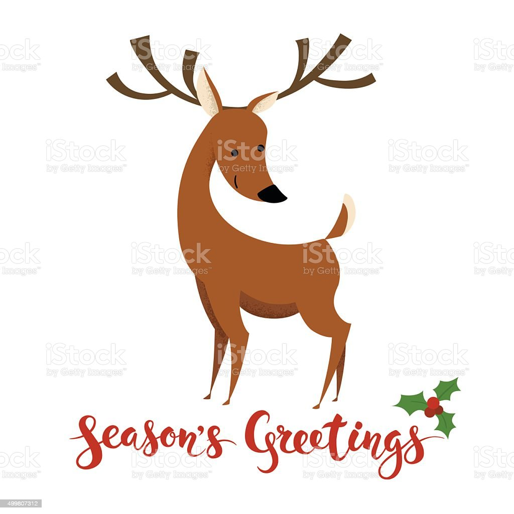 Seasons greetings vector card with funny christmas character stock seasons greetings vector card with funny christmas character royalty free seasons greetings vector card kristyandbryce Choice Image