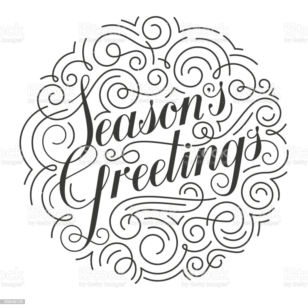 Seasons greetings vector christmas card original calligraphy stock seasons greetings vector christmas card original calligraphy royalty free seasons greetings vector christmas kristyandbryce Image collections