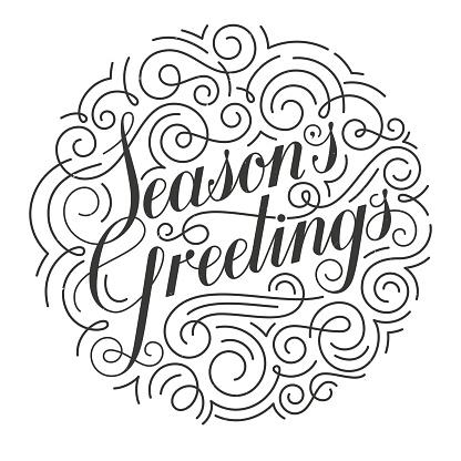 Seasons Greetings Vector Christmas Card Original