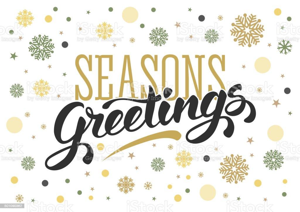 Seasons greetings vector art illustration