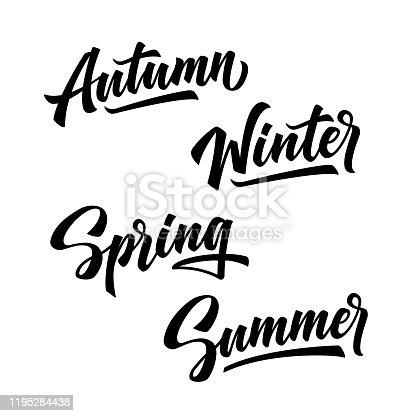4 seasons of year. Winter, spring, summer, autumn.