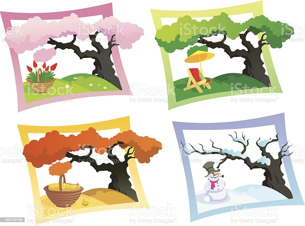Seasons royalty-free stock vector art