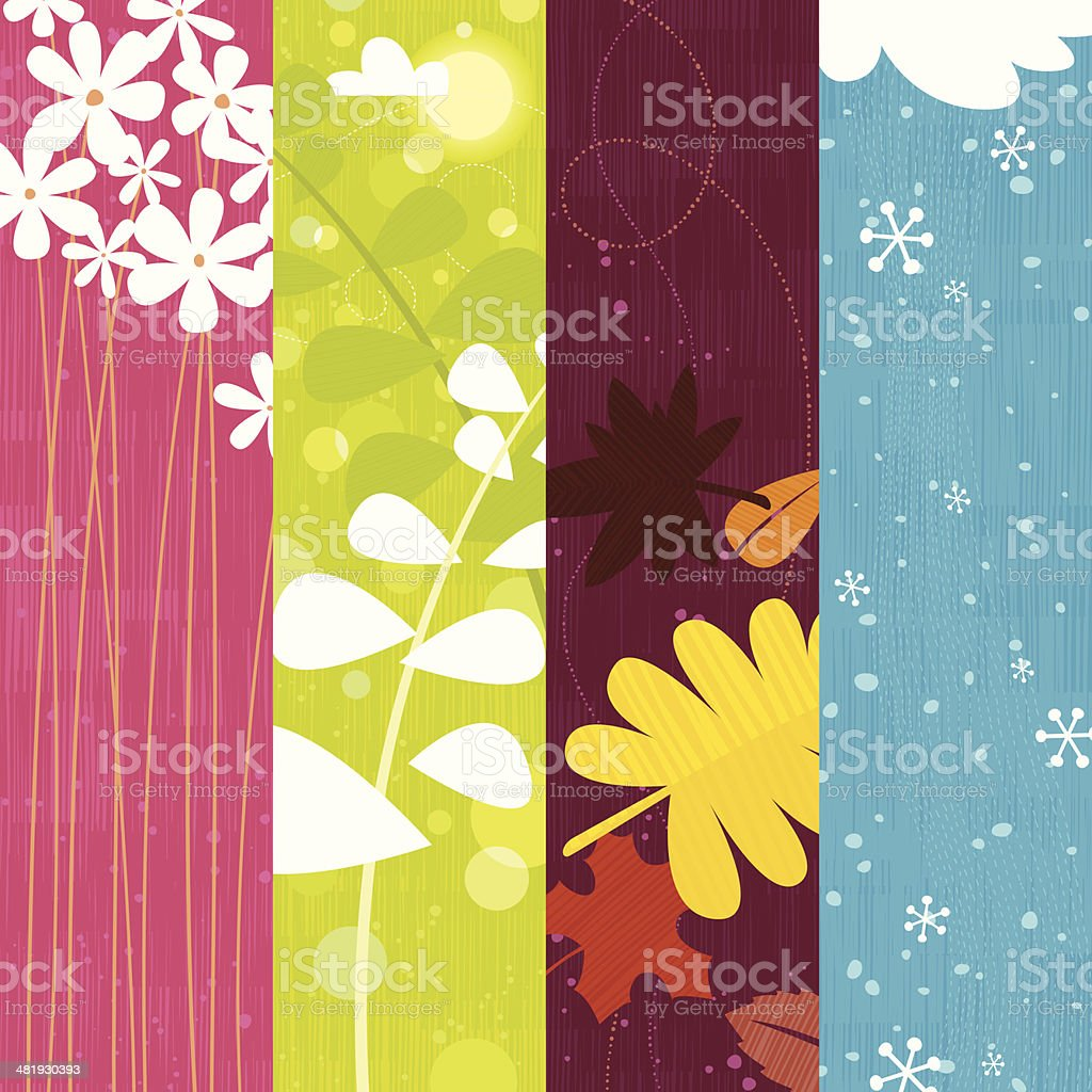 Seasons royalty-free seasons stock vector art & more images of autumn