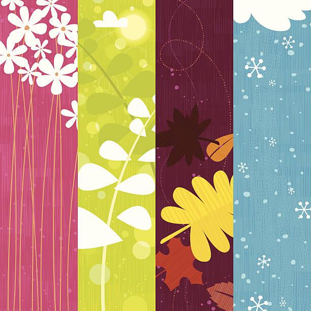 Seasons vector art illustration